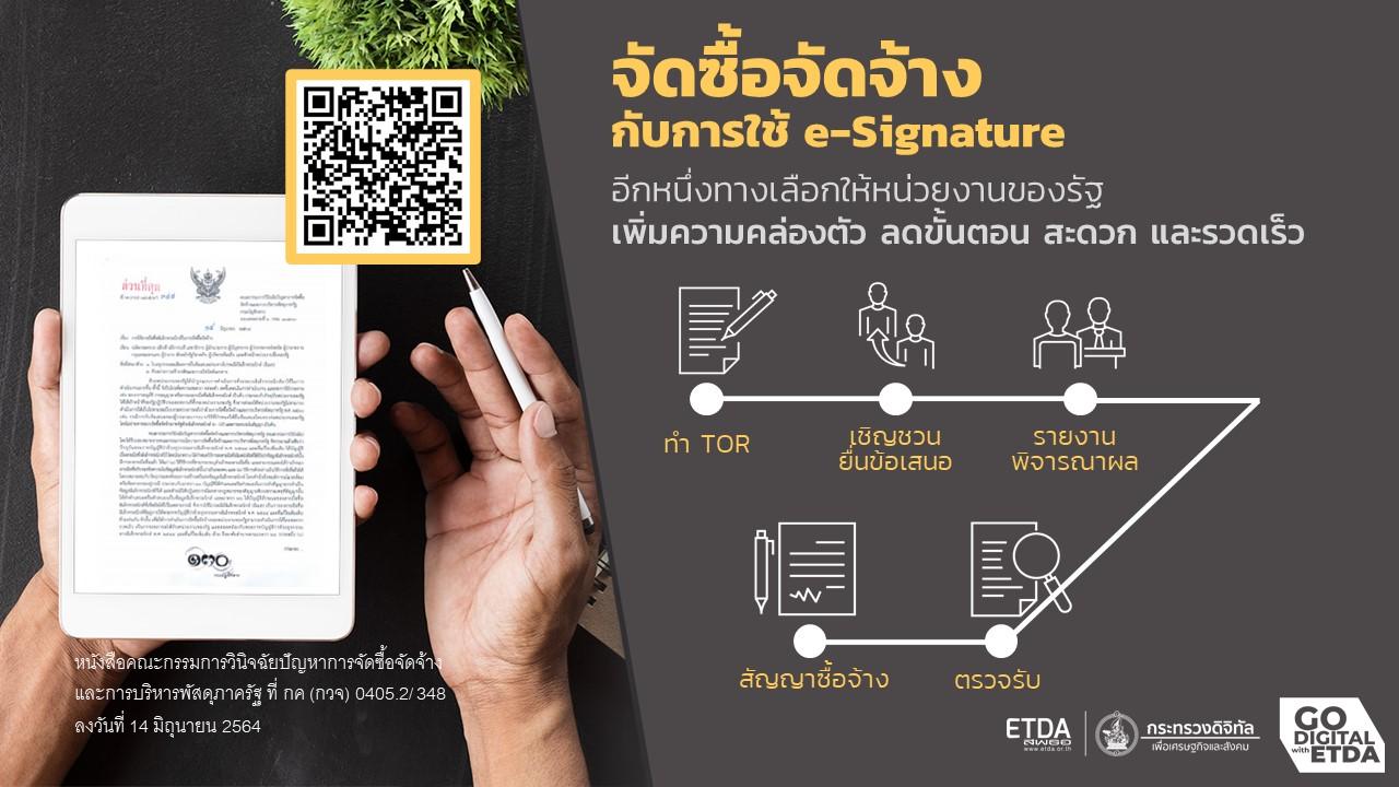 จัดซื้อจัดจ้าง กับการใช้ e-Signature